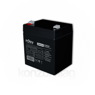 NJOY Szünetmentes akkumulátor - GP05121F (12V/5Ah, T2/F2, zárt, gondozás mentes, AGM) PC