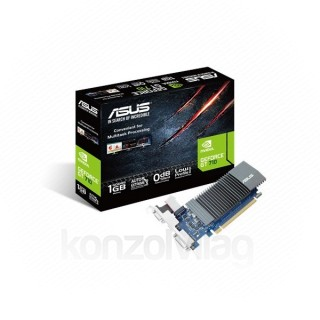 Asus Videókártya - nVidia GT710-SL-1GD5 (1024MB, DDR3, 32bit, 954/5012Mhz, DVI, HDMI, D-Sub, Passzív hűtés)