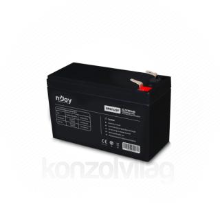 NJOY Szünetmentes akkumulátor - GP07122F (12V/7Ah, T2/F2, zárt, gondozás mentes, AGM)