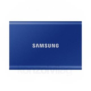Samsung Külso SSD 1TB - MU-PC1T0H/WW (T7 Touch external, kék, USB 3.2, 1TB)