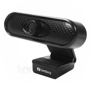 Sandberg Webkamera - 133-96 (1920x1080 képpont, 2 Megapixel, 30 FPS, USB 2.0, univerzális csipesz, mikrofon)
