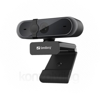 Sandberg Webkamera - 133-95 (2592x1944 képpont, 5 Megapixel, 30 FPS, USB 2.0, univerzális csipesz, mikrofon)