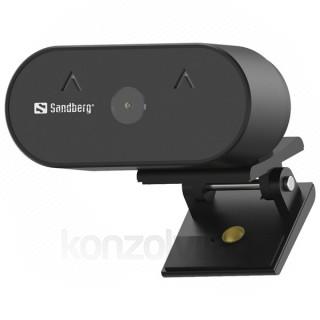 Sandberg Webkamera - 134-10 (1920x1080 képpont, 2 Megapixel, 30 FPS, 120° látószög; USB 2.0, mikrofon)