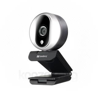 Sandberg Webkamera - Streamer USB Webcam Pro (1920x1080 képpont, 2 Megapixel, 1080p/30 FPS; USB 2.0, mikrofon)
