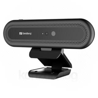 Sandberg Webkamera - Face Recognition Webcam (1920x1080 képpont, 2 Megapixel, 30 FPS, 90° látószög; USB 2.0, mikrofon)