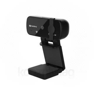 Sandberg Webkamera - USB Webcam Pro+ 4K (3264x2448 képpont, 8 Megapixel, 30 FPS, 70° látószög; USB 2.0, mikrofon)
