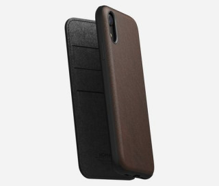 Nomad - Rugged Folio Leath Rustic Brown (iPhone XR) Mobil