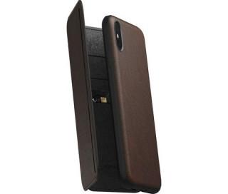 Nomad - Tri-Folio Leath Rustic Brown (iPhone XS MAX) Mobil