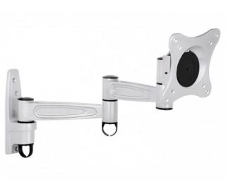 MULTIBRACKETS fali rögzítő konzol, karos, dönthető, 360 fokban forgatható ezüst