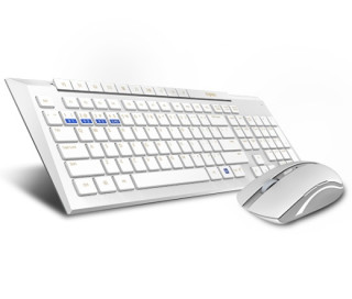 Rapoo 8200M Multi-mode wireless keyboard & mouse White HU PC