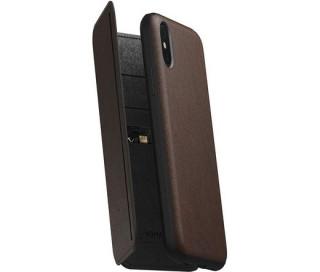 Nomad Tri-Folio Leath Rustic Brown (iPhone XS)