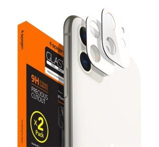 Spigen Glass FC Apple iPhone 11 Tempered kamera lencse fólia, fehér, 2db