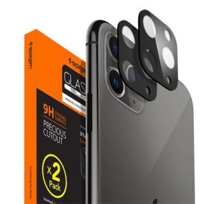 Spigen Glass FC Apple iPhone 11 Pro Max/11 Pro Tempered kamera lencse fólia, asztroszürke, 2db