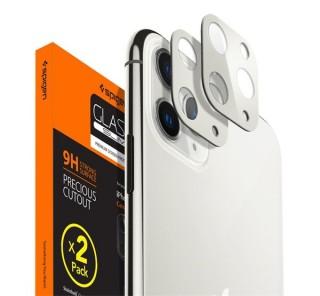 Spigen Glass FC Apple iPhone 11 Pro Max/11 Pro Tempered kamera lencse fólia, ezüst, 2db