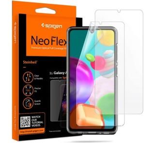 Spigen Neo Flex Samsung Galaxy A41 hajlított kijelzővédő fólia (2db előlapi)