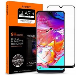 Spigen Glass FC Samsung Galaxy A70 Tempered kijelzővédő fólia Mobil