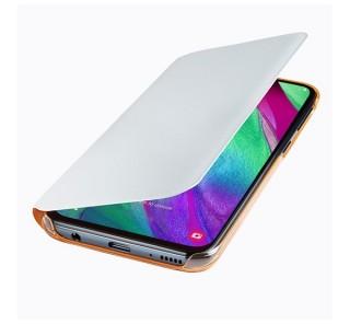 Samsung A405 Galaxy A40 Wallet Cover, gyári flip tok, fehér, EF-WA405PW