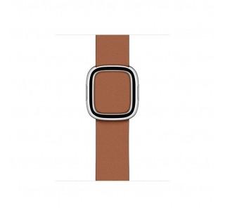 Apple Watch 38/40mm bőr szíj modern csattal, L méretű, vöröses barna Több platform