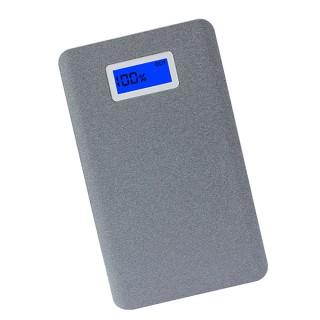 AWEI P83K - Alumínium powerbank 10000mAh 2XUSB LCD kijelzővel - Szürke