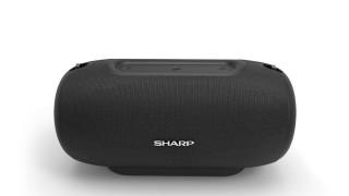 SHARP GX-BT480BK hordozható vezeték nélküli hangszóró