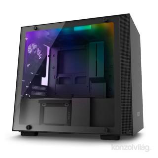 NZXT H200I Fekete (Táp nélküli) ablakos mini-ITX ház PC