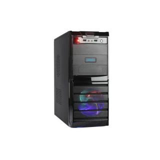Danubius C3096 V2 Fekete (Táp nélküli) ATX ház PC