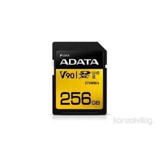 ADATA 256GB SD Premier ONE (SDXC Class 10 UHS-II U3) (ASDX256GUII3CL10-C) memória kártya PC