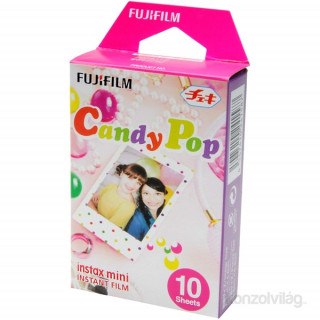 Fujifilm Instax Mini fényes Candy Pop 10 db képre film Fotó, videó