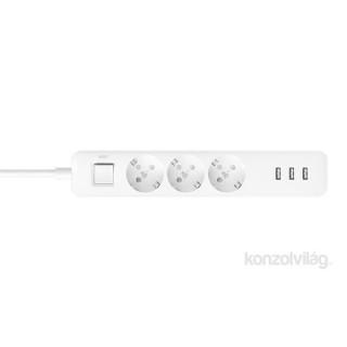 Xiaomi Mi Power Strip 3x USB-s 3 csatlakozós túlfeszültségvédo Otthon