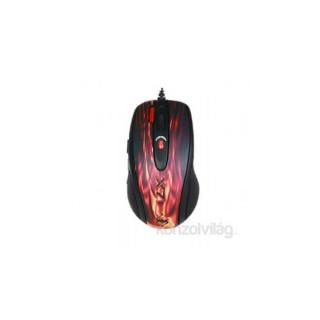 A4Tech XL-750BK-2 lézer USB fekete alap, vörös láng minta gamer egér PC