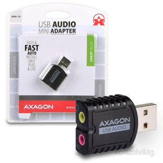 Axagon ADA-10 USB stereo audio adapter
