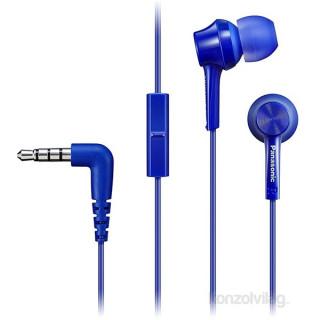 Panasonic RP-TCM115E-A kék mikrofonos fülhallgató headset