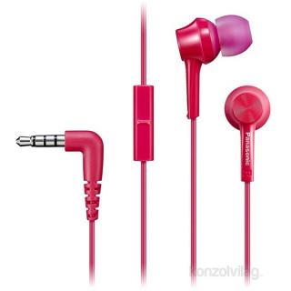 Panasonic RP-TCM115E-P rózsaszín mikrofonos fülhallgató headset Mobil