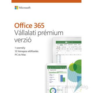 Microsoft Office 365 Vállalati Premium verzió HUN 1 Felhasználó 5 Gép 1 év dobozos irodai programcsomag szoftver PC