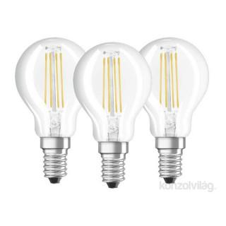 Osram Base Filament 4W E14 470 lumen hideg fehér LED kisgömb izzó 3db/csomag PC