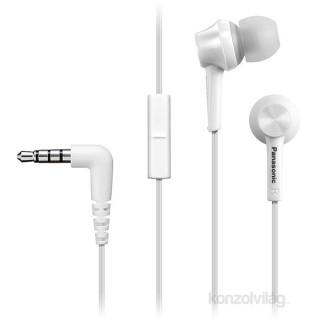 Panasonic RP-TCM115E-W fehér mikrofonos fülhallgató headset Mobil