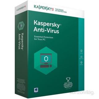 Kaspersky Antivirus HUN 3 Felhasználó 1 év dobozos vírusirtó szoftver PC