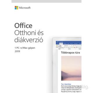 Microsoft Office 2019 Otthoni és diákverzió Elektronikus licenc szoftver ESD (Letölthető)