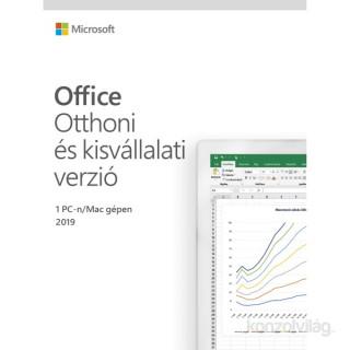 Microsoft Office 2019 Otthoni és kisvállalati verzió Elektronikus licenc szoftver