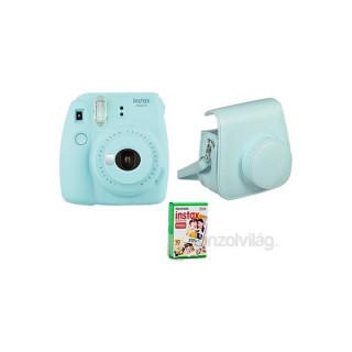 Fujifilm Instax Mini 9 világoskék + tok + film analóg fényképezőgép kit