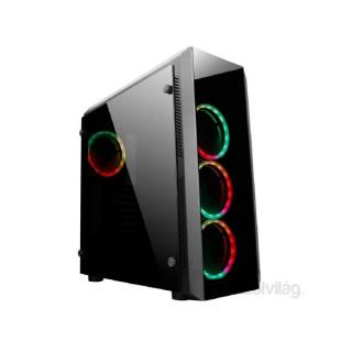 Chieftec GL-02B-OP táp nélküli GAMER ATX ház PC