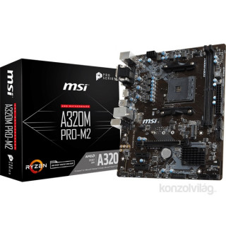 MSI A320M PRO-M2 AMD A320 SocketAM4 mATX alaplap PC
