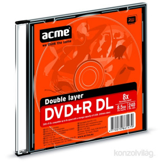 Acme DVD+R 8.5GB 8X slim PC