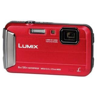 Panasonic DMC-FT30EP-R Piros digitális fényképezőgép Fotó, videó