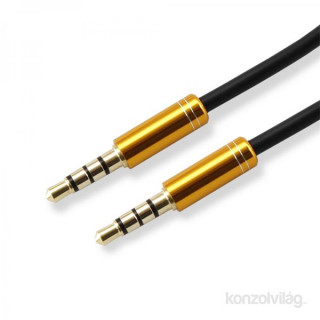 Sbox 3535-1,5G 1,5m arany jack audio összekötő kábel PC