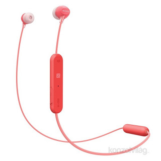 Sony WIC300R Bluetooth piros fülhallgató headset Mobil