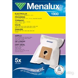 Menalux 1900 5 db szintetikus porzsák + 1 microfilter