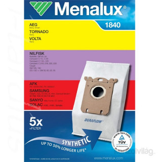 Menalux 1840 5 db szintetikus porzsák + 1 microfilter Otthon