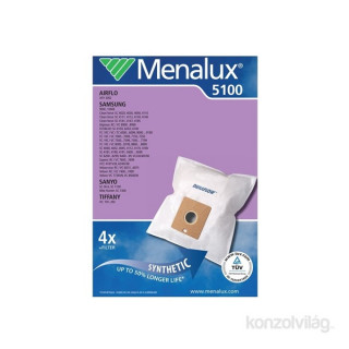 Menalux  5100 4 db szintetikus porzsák + 1 motorfilter
