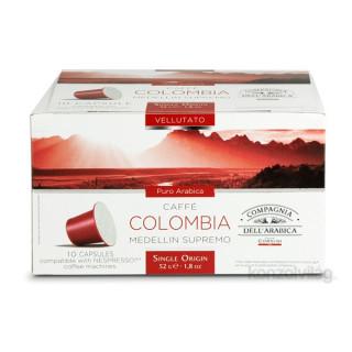 Compagnia Dell Arabica DCO051 Colombia Medellin Supremo Nespresso kompatibilis kávé kapszula 10*5,2g Otthon